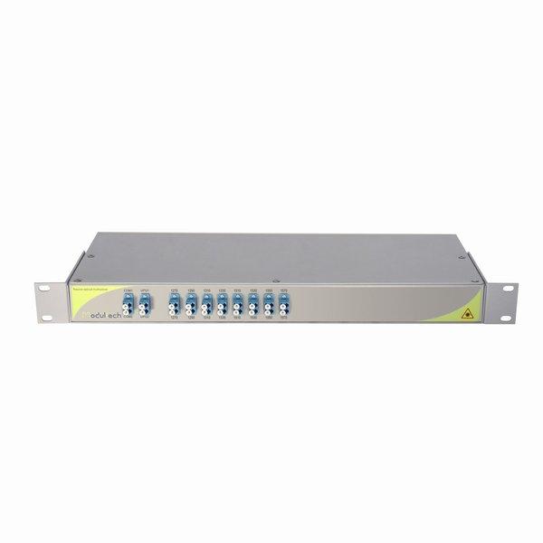 Мультиплексор CWDM двухволоконный 8-канальный, 1270-1330, 1510-1570 LC/UPC, 1RU