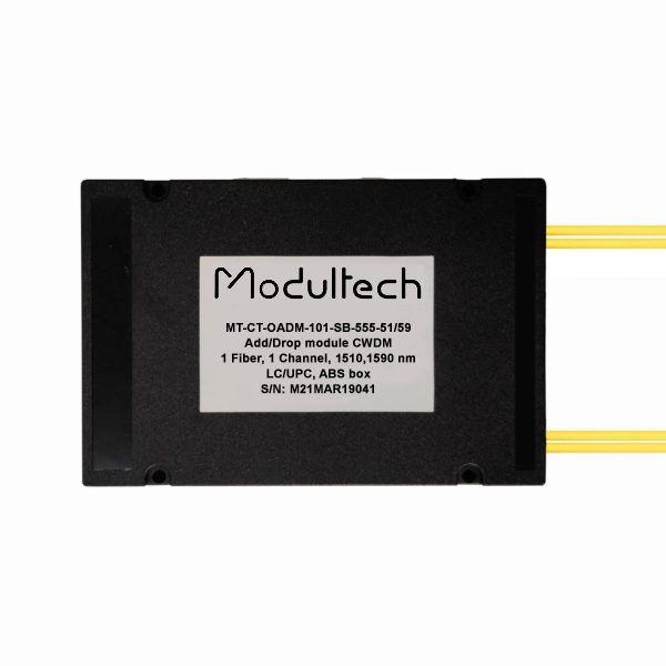 Модуль ввода/вывода CWDM, 1 канал, 1510, 1590нм, ABS box