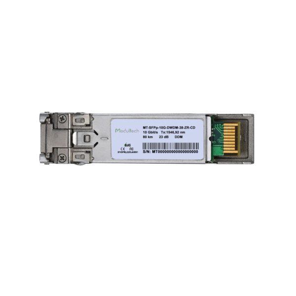 Оптический трансивер SFP+ DWDM ZR, 10 Гбит/с, до 80 км, SMF, канал 38
