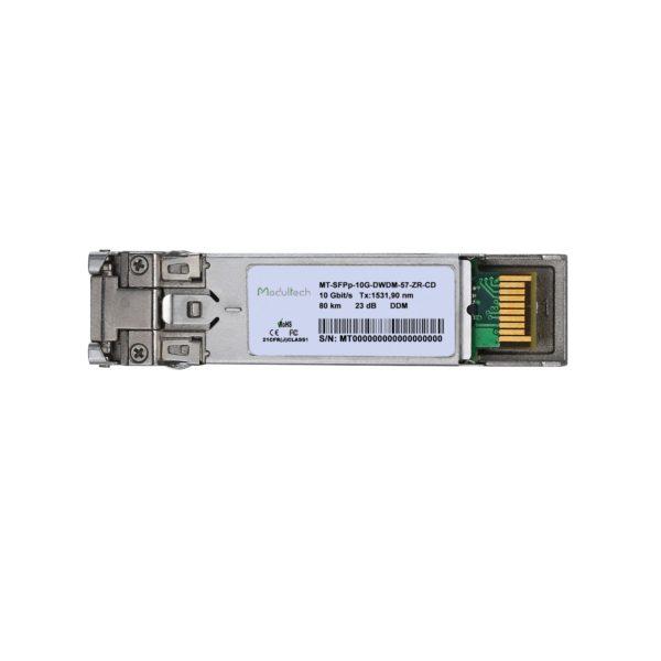 Оптический трансивер SFP+ DWDM ZR, 10 Гбит/с, до 80 км, SMF, канал 57