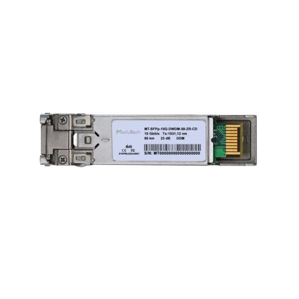 Оптический трансивер SFP+ DWDM ZR, 10 Гбит/с, до 80 км, SMF, канал 58
