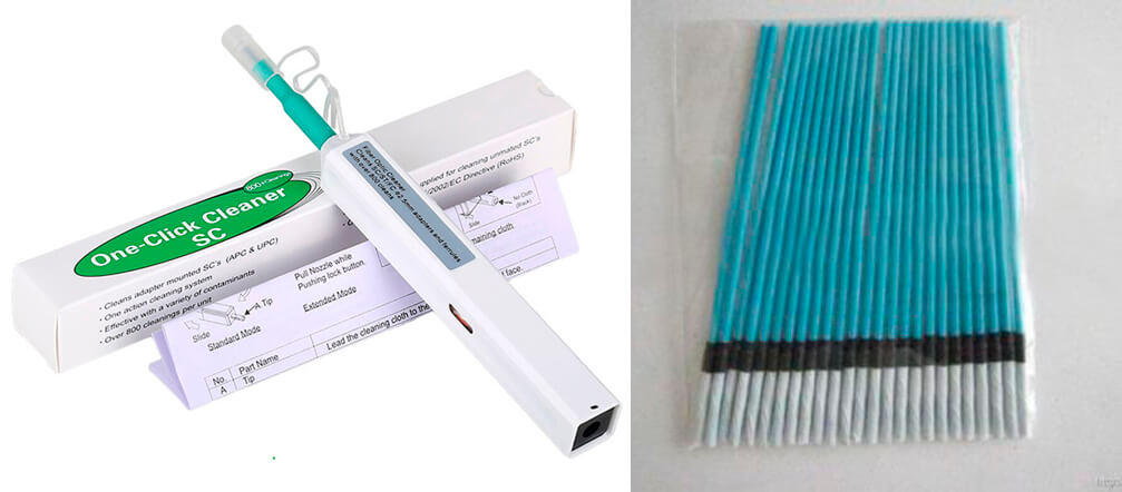 One-Click-Cleaner и безворсовые палочки