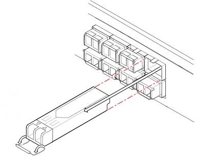 Отключение SFP трансивера из порта