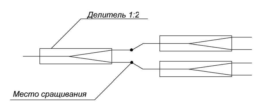 Схема сварного делителя 1х4